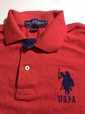 US Polo Association Men's Polo Shirt Res Medium Button Navy Accents