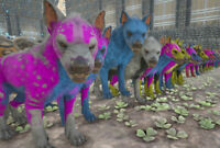 Ark Survival Evolved Xbox One PvE Various Color Mutated Hyaenodon's 200+