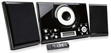 Grouptronics GTMC101 Black CD Player Stereo with FM Radio Clock Alarm Wall Mount