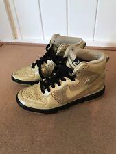 best service 8b7ed 10acb NIKE Metallic Gold Dunk High Skinny Shoes Womens Size 6 344142-991