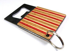 RECYCLED SKATEBOARD Wooden Bottle Opener Keyring Cool Unusual Unique Gifts