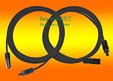 2 x 10m Solarkabel schwarz 6mm2 mit MC 4 Stecker für PV Photovoltaik Solar Kabel