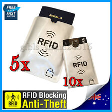 5xL+ 10xS RFID Secure Sleeve Passport Credit Card AntiScan Protect Case Holder