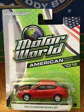 Greenlight MOTOR WORLD  2013 Dodge Dart GT   red. ON SALE!