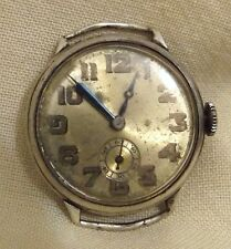 Rare antique sterling silver military watch MIMO (Girard Perregaux) needs repair