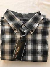 XL Roundtree & Yorke Long Sleeve Button Down Shirt, Black & White Check