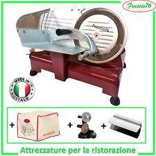 Affettatrice Elettrica 195 GL Lusso RGV ROSSA e + Affilatoio + Copertura + Pinza