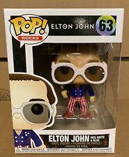 Funko Pop! Elton John Red White And Blue Glitter W/Soft Case