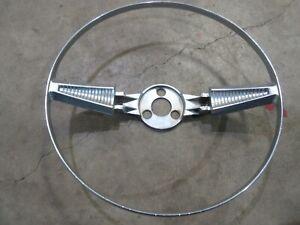 1958 Chevrolet Belair Biscayne interior original steering wheel horn trim ring