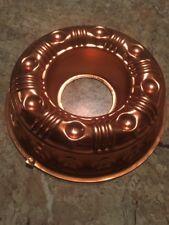 """Copper Color Jello Mold Thumbprin Round Aluminum 3-1/2 cups - 8-1/2"""".      #87/3"""
