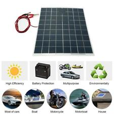 Solar Panel 30W Watt Poly Bundle Kit 12V Boat RV 30W Off Grid System Q6D6
