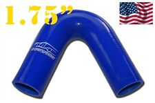 "4PLY Silicone 135 Degree Elbow Hose Pipe 45mm 1.75"" 1 3/4"" Blue"