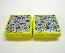 TUPPERWARE 2x MINION A126 Sandwichbox Brotdose Lunchbox to Go