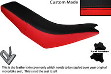 RED & BLACK CUSTOM FITS APRILIA MX 125 DUAL LEATHER SEAT COVER ONLY