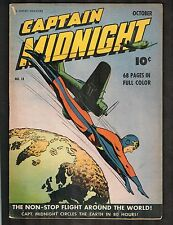 Captain Midnight #13 ~ War Time Content ~ 1943 (5.0) WH