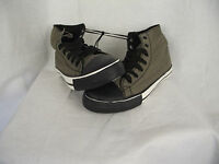 BNWT Older Boys Mens Sz 7 Rivers Doghouse Brand Brown Checked High Top Boots