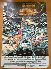 Used - MOONRAKER James Bond 007 - Vintage Movie Film Poster - Roger Moore
