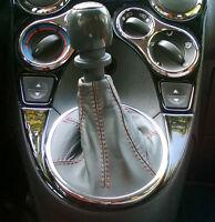 FIAT NUOVA PANDA 03 09 CUFFIA CAMBIO VERA PELLE GRIGIA