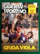 GUERIN SPORTIVO 1984 n 7 con MaxiPoster NAZIONALE ITALIA PERTINI + Inserto AGEND