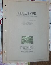 Teletype Printing Telegraph Systems Bulletin #1165B - Parts-Model 28