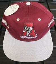 NWT Vintage 90s Alabama Crimson Tide Double Side Logo SnapBack Hat Cap Logo 7