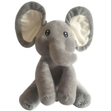 Cute Peek-a-boo Elephant Baby Plush Toy Singing Stuffed Animated Baby Doll