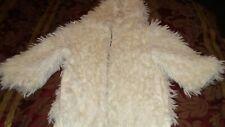 Girls Large Roxy White Fuzzy Jacket