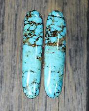 Turquoise cabochon Kingman  mine cab Earring set  Unique  ,F-86