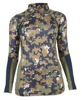 Shires Aubrion Newbury Long Sleeve Base Layer Shirt - Ladies in Camo