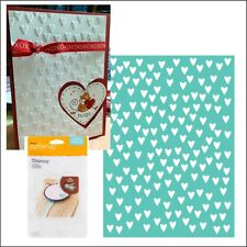 Cuttlebug Embossing folders - CROSS MY HEART 5 x 7 embossing folder wedding,baby