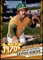Catfish Hunter 2020 Topps Decade's Best Series 2 5x7 Gold #DB-40 /10 Athletics