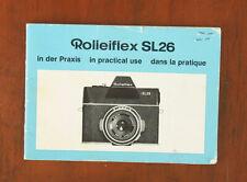 ROLLEI ROLLEIFLEX SL26 INSTRUCTION BOOK/108754