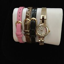 VINTAGE LEXINGTON DRESS WATCH WITH INTERCHANGEABLE BANDS NEVER BEEN WORN IN BOX