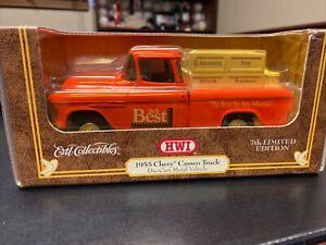 """Ertl 7th Edition 1955 Chevy Cameo PU Truck """" Do it Best"""" coin bank 1/24 diecast"""