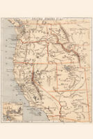 Pacific United States USA 1869 Vintage Antique Style Map Poster 12x18 inch