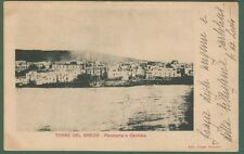 Campania. TORRE DEL GRECO, Napoli. Panorama e Cantiere. Cartoline viag. nel 1903