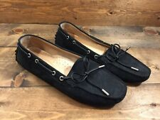 Tod's Black Suede Driving Loafers Women's Flats Shoes Size 38 US 8