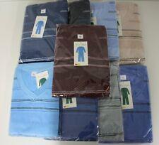 Herren Schlafanzug Pyjama V-Ausschnitt lang mit Bündchen versch. Farben M - 3XL