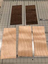 LC BOARDS Fingerboard Veneer Wood Pre Cut Curly Maple Ebony 5 plys