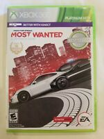 Need for Speed Most Wanted Platinum Hits XBOX 360 NO MANUAL TESTED FREE S/H