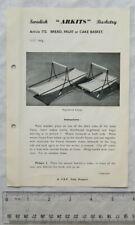 Vintage leaflet: Swedish Arkits Basketry - bread, fruit or cake basket, 172