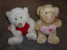 """2  Valentines Day Talking & Moving Teddy Bear """"Hug me Squeeze me Love me"""""""