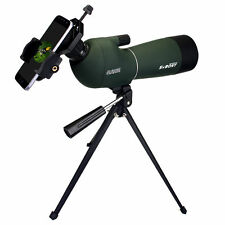 20-60x60mm Angled Zoom Spotting Scope Telescope Waterproof+Tripod Phone Adapter