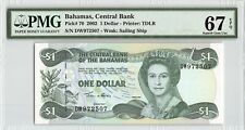 Bahamas 2002 P-70 PMG Superb Gem UNC 67 EPQ 1 Dollar