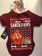 Sparo Holiday Christmas Ugly Sweater T Shirt Dog Pet L Large