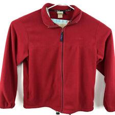LL Bean Mens XL Red Fleece Full Zip Sweater