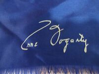 """VINTAGE Silk Scarf  by ANNE FOGARTY Blue and White 23"""" x 23"""""""