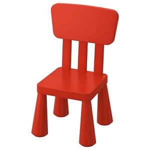 IKEA MAMMUT Children's chair, indoor/outdoor/red BRAND NEW, FAST SHIPPING