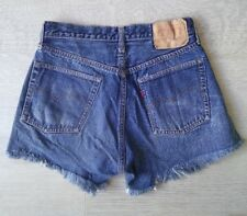 Levis *Big E 501* Authentic Jeans Shorts Vintage Rare High Waisted Hotpants 26w