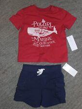 Ralph Lauren Baby Boys 2 Piece Outfit (T-Shirt & Shorts) - Size 18 Months - NWT